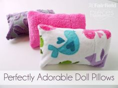 Perfectly Adorable Cuddle Doll Pillows for 18 inch dolls
