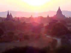 Sunset in Bagan, Myanmar... great place to explore for a few days. Grab an 'E-bike' to get around. www.thefilmfixer.com