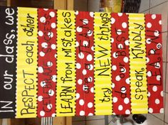 Classroom expectations with my Mickey theme