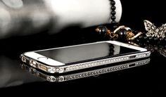luxuriöse glänzende kristalle Rand Metall Handyhülle für iphone 6 und iphone 6 plus - Prima-Module.Com