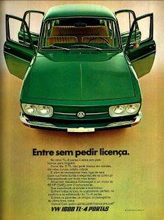 Anúncio VW TL - 1600 - 4 portas - 1971