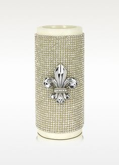 working with crystals - always stunning.   Lisa & C The Diamond Empire - Her Majesty Wax Candle | FORZIERI