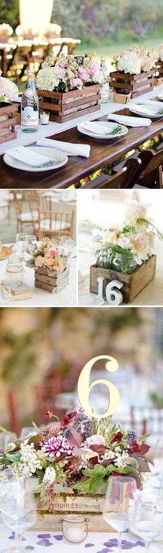 Cajas de madera vintage en tu boda                                                                                                                                                     Más