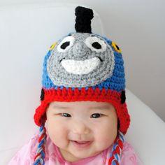 Thomas the Train Hat Crochet Baby Hat Train Hat by stylishbabyhats, $19.99