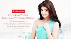 ‪#‎R‬.S.Brothers Wishing Actress ‪#‎Praneetha‬ 'A Very Happy BirthDay'. (Image copyrights belong to their respective owners)