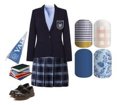 """Guess The Gilmore Girls Character - Jamberry Nails"" by kspantongroup on Polyvore featuring H&M, Lands' End, Dr. Martens and Damsel in a Dress"
