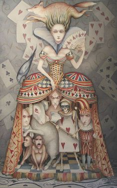 Alice In Wonderland Art Original Painting The Queen of Hearts Dominic Murphy Lewis Carroll, Alice In Wonderland Illustrations, Chesire Cat, Alice Madness, Adventures In Wonderland, Oui Oui, Through The Looking Glass, Queen Of Hearts, Pics Art