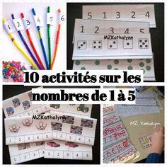10 activités sur les nombres jusqu'à 5