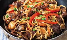 The Hairy Bikers' meat feast: Pork chow mein