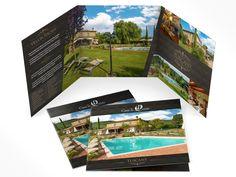 brochure per villa e casa vacanze con piscina in toscana