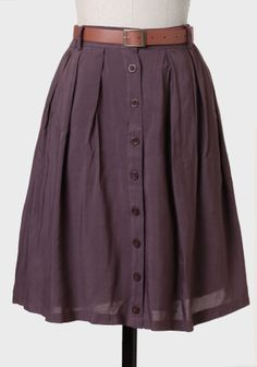 Eloise Belted Circle Skirt In Plum at #Ruche @Ruche
