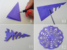 how to paper snowflakes