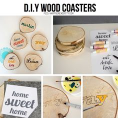 Wood Coasters - Porta vasos de madera
