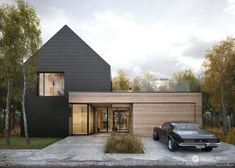 Dark Plate House w Poznaniu. Facade Design, Exterior Design, House Design, Scandinavian Architecture, Modern Architecture, Style At Home, Modern House Philippines, Tamizo Architects, Modern House Facades