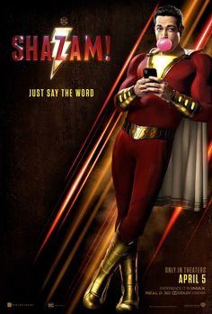 has released a new Shazam poster; the upcoming superhero movie stars Zachary Levi, Jack Dylan Grazer, Asher Angel, and Mark Strong. Hindi Movies, Dc Movies, Movies 2019, Movies To Watch, Movies Online, Movies And Tv Shows, Movie Tv, Movies Free, Action Movies