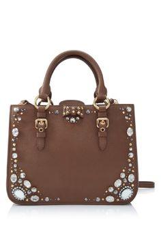 Miu Miu Madras Shopping Bag  Color: Cuoio (Designer Color)  Material: Goatskin Leather, Fabric    *Made in Turkey