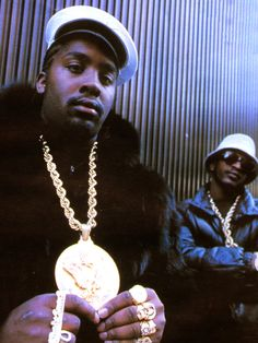 eric b & rakim.  Paid in full...whew I love 80's hip hop