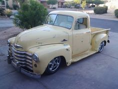oldyeller yellowand ready to Rock! Built to Ride 350 Automatic Transmission Si Old Trucks, Chevy Trucks, Chevy 3100, Rat Rods, Automatic Transmission, Cars And Motorcycles, Antique Cars, Wheels, Ford