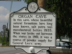 Organ Cave - West Virginia Historical Markers on Waymarking.com