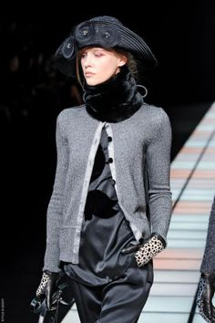 Emporio Armani -- FW 2012 __ faves are the scarf, hat, & sweater.