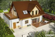 Projekty domów ARCHIPELAG - Mati III G1 Mocca