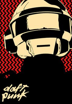 Daft Punk Thomas Bangalter Art Print I by PeikkoKasvot on Etsy, $19.99