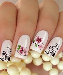 Resultado de imagen para adesivos de unhas Flower Nail Designs, Beautiful Nail Designs, Nail Art Designs, Perfect Nails, Gorgeous Nails, Pretty Nails, Spring Nail Art, Spring Nails, Pedicure Nails