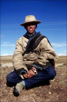 Nomad from Amdo, Tibet.