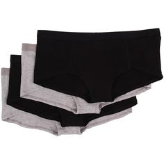 PACT Everyday Boyshorts 4-Pack Women's Underwear ($12) ❤ liked on Polyvore featuring intimates, panties and multi
