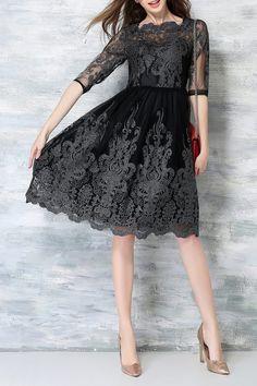 AERMEI - A Line Mesh Midi Dress