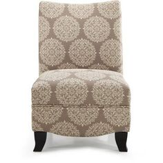 Donovan Gabrielle Upholstered Accent Chair, Multiple Colors, Gray
