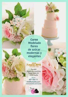 Tarta Chic: Curso Modelado de Flores de azúcar Elegantes y Mod... Table Decorations, Fondant, Home Decor, Sugar Flowers, Role Models, Sevilla, Pies, Elegant, Kitchen