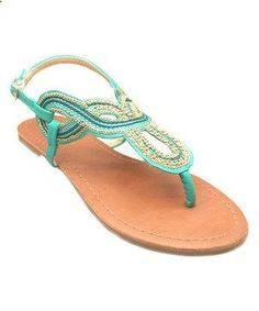 38ff50caa0bf Another great find on  zulily! Turquoise Twisted Chain Sandal by OLIVIA  MILLER  zulilyfinds