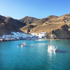 The adorable small port of Anafi island (Ανάφη) !