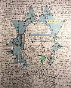 Rick and Morty art Rick And Morty Quotes, Rick And Morty Poster, Rick I Morty, Ricky And Morty, Cartoon Wallpaper, Friends In Love, Cool Art, Graffiti, Nerd