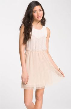 Lush Mesh Overlay Dress- I am always going to bridal showers and baby showers so when I need an outfit I get a dress because it's a whole outfit in one purchase! And baby pink can be worn to both Bridal& Baby Showers!
