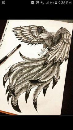 60 Best Phoenix Tattoo Designs – The Coolest Symbol for Tattoo - i like tattoos - Tatoo Ideen New Tattoos, Body Art Tattoos, Sleeve Tattoos, Cool Tattoos, Tatoos, Phoenix Bird Tattoos, Phoenix Tattoo Design, Phoenix Tattoo Sleeve, Tattoo Designs