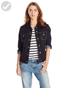 Liverpool Women's Classic Button Front Denim Stretch Jacket, Rinse Wash, X-Small - All about women (*Amazon Partner-Link)