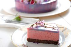 Zrcadlová poleva na dort – Kuchařka pro dceru Glaze, Cheesecake, Pudding, Cheesecake Cake, Flan, Puddings, Cheesecakes, Cheesecake Bars, Display Window