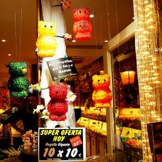 Gummy Bears made out of Gummy Bear in Madrid Spain.