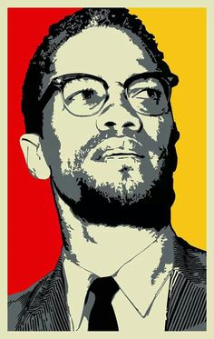 Malcolm X Human Rights Activist Portrait Art Print Poster Afro Art, Protest Posters, Black Art Pictures, Black Panther Party, By Any Means Necessary, Political Art, Malcolm X, Stencil Art, African American History