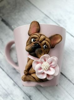 You are in the right place about Polymer Clay Projects christmas Here we offer you the most beautifu Polymer Clay Ornaments, Cute Polymer Clay, Polymer Clay Animals, Cute Clay, Polymer Clay Flowers, Polymer Clay Projects, Polymer Clay People, Fondant Dog, Cute Mug