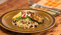Cumin Chicken Thighs with Spicy Pistachio Quinoa