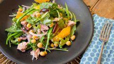tuna rocket orange and chickpea salad