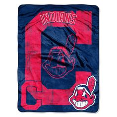 Cleveland Indians MLB Micro Raschel Blanket (Triple Play Series) (46in x 60in)