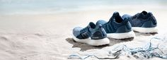 the adidas X parley sneakers sport a primeknit woven from 95 per cent ocean plastic, turning threat into thread by spinning found debris into workable yarn.