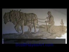 Wall Relief Sculpture by Scott Hayes - YouTube