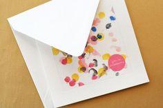 DIY Children's : DIY Children's Art Thank You Cards
