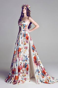 Very pretty print dress | HAMDA AL FAHIM