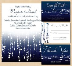 DIY Wedding Invitation Package Star Streamers by BrownPaperMoon, $44.00